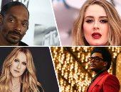"""عودة """"Adele"""" ليست الأولى.. الربع الأخير من 2021 يشهد طفرة فى عالم الموسيقى.. سنوب دوج يقترب من طرح ألبومه الجديد بمشاركة Eminem.. وذا ويكنيد وسيلين ديون يبدأن رحلاتهما الموسيقية بعد توقف عامين.. صور"""