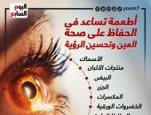 أطعمة تساعد فى الحفاظ على صحة العين وتحسين الرؤية.. إنفوجراف
