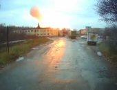 اللقطات الأولى من انفجار مصنع بمقاطعة ريازان فى موسكو.. فيديو وصور