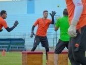 """تدريب كرة """"تنس"""" لحراس غزل المحلة قبل انطلاق مباريات الدورى المصرى.. صور"""