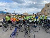 تنظيم رالى دراجات بالإسكندرية لدعم تقليل الانبعاثات الكربونية بأفريقيا.. صور