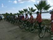 تنظيم ماراثون دراجات بمناسبة انتصارات أكتوبر المجيدة في دمياط