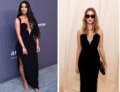 أنت الحكم.. هايلى بيبر VS كيم كاردشيان بنفس الفستان الأسود من ارتدته أفضل؟