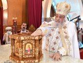 بعد تدشينها.. البابا تواضروس يصلى القداس الإلهى بكنيسة العذراء بمدينة بدر
