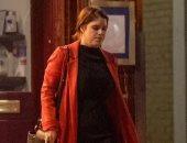 الأميرة أوجينى فى إطلالة أنيقة بفستان أسود ومعطف أحمر