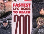 ليفربول يحتفل بيورجن كلوب: أسرع مدرب يحقق 200 انتصار فى تاريخ النادى