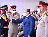 الرئيس السيسى يشهد حفل تخرج دفعة جديدة من طلبة الكليات العسكرية ويمنح الأوائل نوط الواجب العسكرى