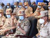 رئيس الأركان يشهد مراحل المشروع التكتيكى لإحدى وحدات الجيش الثالث الميدانى