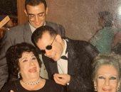 شريف منير فى صورة من الذكريات مع سميحة أيوب وأحمد السقا