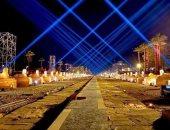 السحر والجمال والإضاءات العالمية تبهر أبناء الأقصر قبل الحفل العالمى لافتتاح طريق الكباش