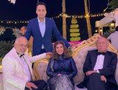 """ميرفت أمين وأحمد خليل وأشرف زكى من كواليس """"حكايتى مع الزمان"""""""