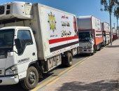 """""""قافلة أهالينا"""".. 43 سيارة أغذية وبطاطين هدية الرئيس لحلايب وشلاتين.. فيديو صور"""