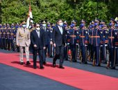 الرئيس السيسي يستقبل نظيره الرومانى كلاوس يوهانيس بقصر الاتحادية
