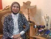 هبة استغلت موهبتها وعملت مشروع للمشغولات اليدوية لتصبح ملكة الهاند ميد فى بنى سويف