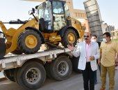 محافظ أسوان يتفقد المعدات الجديدة للنظافة باعتمادات 36 مليون جنيه