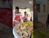 عودة شحيبر.. ملك لحمة الراس الضانى هيعملنا أكبر طبق فواكة لحمة رأس فى مصر