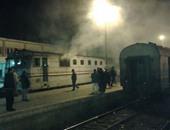تصاعد الأدخنة من أحد القطارات يتسبب فى توقف الحركة لمدة ساعة بالمنيا