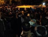الآلاف يشيعون جثمان شهيد الشرطة فى جنازة عسكرية بقنا