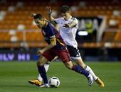 بالفيديو.. برشلونة يتأخر بهدف أمام فالنسيا فى الشوط الأول بالكأس