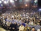 استمرار  توافد الآلاف على مولد الحسين بعد صعود ياسين التهامى على المسرح