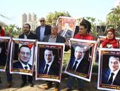 """مؤيدو مبارك للرئيس الأسبق فى ذكرى تحرير سيناء: """"يا نسر ما يهزك ريح"""""""