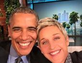 بالصور.. ألين دى جينيريس تلتقط السيلفى مع الرئيس باراك أوباما