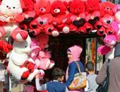 """البهجة والألوان والقلوب الحمراء تطغى على """"بغداد"""" فى عيد الحب"""