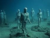 بالصور متحف أتلانتيكو بأسبانيا يعرض منحوتات عالمية من قاع المحيطات