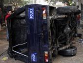 إصابة 4 شرطيين فى حادث مرورى بالوادى الجديد