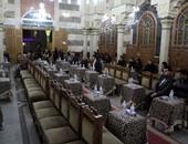 نجوم الفن والثقافة والسياسة فى عزاء علاء الديب