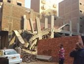 إزالة مخالفة بناء  وإعلانات أمام ديوان محافظة القاهرة