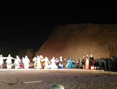 بالصور.. وزير الثقافة يشهد احتفالية تعامد الشمس على تمثال رمسيس الثانى