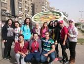 """صحافة المواطن: بالصور.. طلاب الأكاديمية العربية يدشنون مبادرة """"مصر الجميلة"""""""