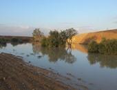 سقوط أمطار وتجمع المياه فى مسارات الأودية بوسط سيناء