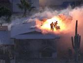 أوامر بإخلاء للمنازل بولاية أريزونا الأمريكية بسبب اتساع نطاق حريق