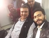 بالصور..تامر حسنى وعمرو الليثى فى الاحتفال بتسجيل رقم قياسى للتبرع بالدم