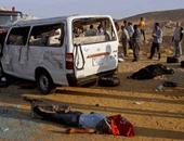 إصابة 11 شخصا فى حادث انقلاب سيارة ميكروباص بالوادى الجديد