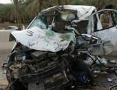 إصابة 6 أشخاص فى انقلاب ثلاث سيارات على صحراوى بنى سويف