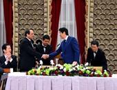 """صفحة الرئيس على """"فيس بوك"""" تنشر صور لقائه برئيس وزراء اليابان"""