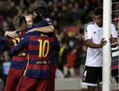 """بالفيديو والصور..برشلونة يحسم التأهل لنهائى الكأس للمرة الـ38 بتاريخه قبل الإياب..زلزال كتالونى بمقياس 7 أهداف يضرب فالنسيا """"المنهار"""" فى فضيحة لا تنسى للخفافيش..وثلاثى """"MSN""""يحرز 80 هدفا بالموسم الحالى"""