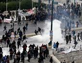 الشرطة اليونانية تفرق تظاهرة للاجئين بجزيرة لسبوس