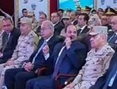القوات المسلحة تعرض  فيلمًا تسجيليًا عن مشروعات 6 أكتوبر فى حضور السيسى
