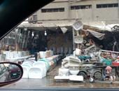 """صحافة المواطن.. قارئ يرصد تعدى الباعة على شارع بورسعيد بـ""""عزبة أبو حشيش"""""""
