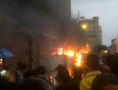 مجهولون يشعلون النيران بأتوبيس نقل عام بالعوايد شرق الإسكندرية