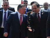 السيسى يستقبل ملك الأردن لدى وصوله مطار القاهرة للمشاركة فى القمة الثلاثية