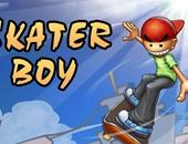 ساعد الطفل الصغير فى عبور الحواجز بلعبة Skater Boy