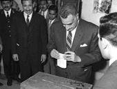 """تداول صورة نادرة للزعيم """"عبدالناصر"""" أثناء إدلائه بصوته فى الانتخابات"""
