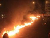 طلاب إخوان الأزهر يقطعون الطريق بمدينة نصر للتنديد بإعدام محمود رمضان