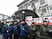 احتجاجات فى موسكو إثر اعتداء جديد على السفارة الروسية فى كييف