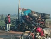 إصابة 9 أشخاص فى حادث انقلاب سيارة ميكروباص بترعة بالمنوفية